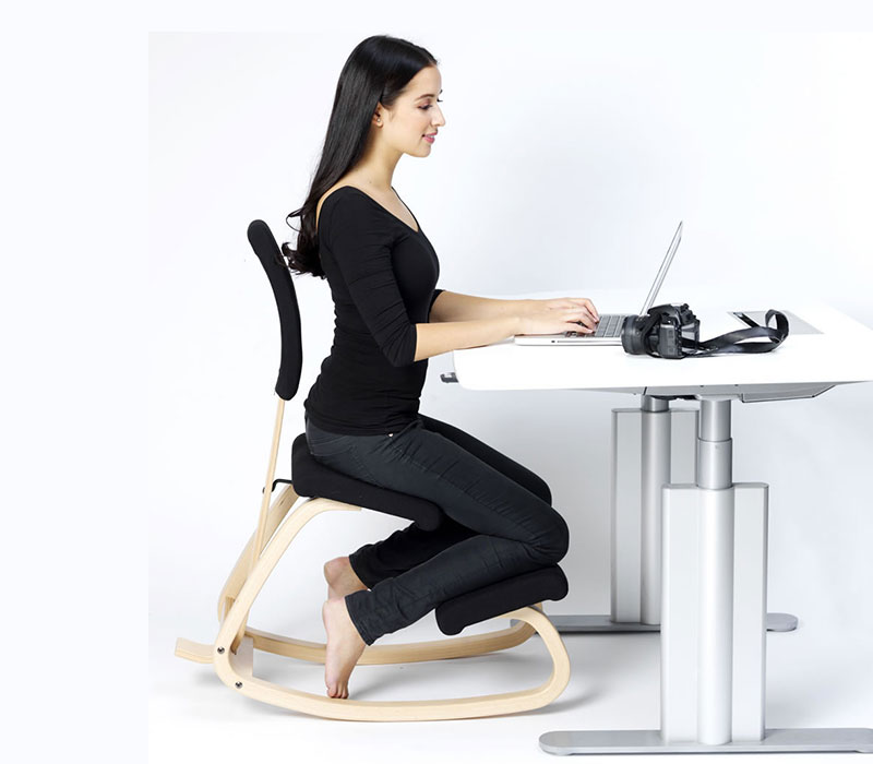 Assise ergonomique reference buro mobilier de bureau for Chaise ergonomique genoux