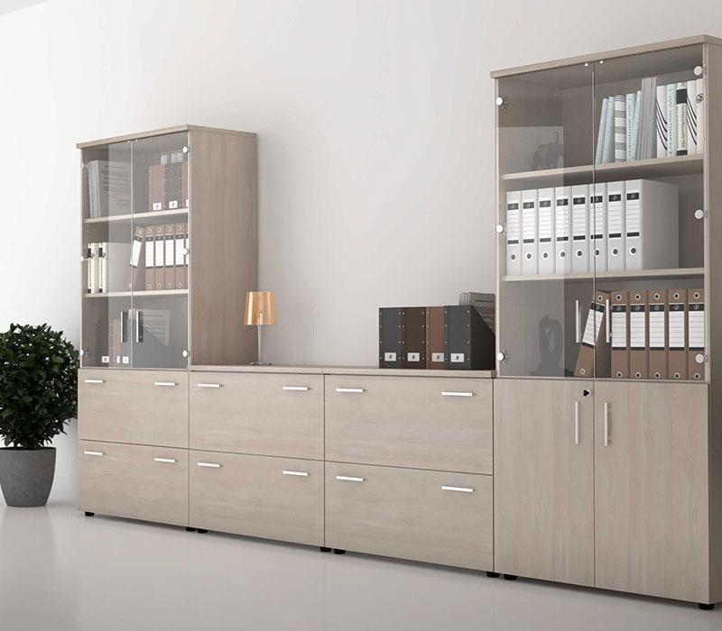 Rangement bois reference buro mobilier de bureau for Mobilier bureau rangement